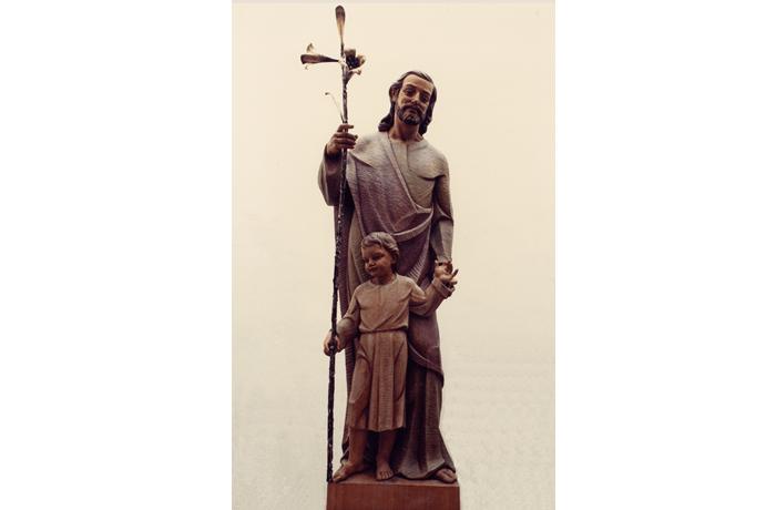 San José de Nazaret con el niño