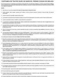 BASE- II EDICIÓN CERTAMEN DE TEATRO S.M