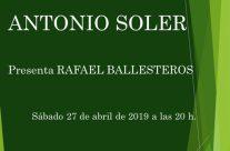«un nombre de letras» Antonio Soler